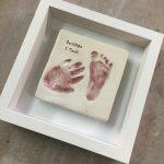 baby footprint and handprint