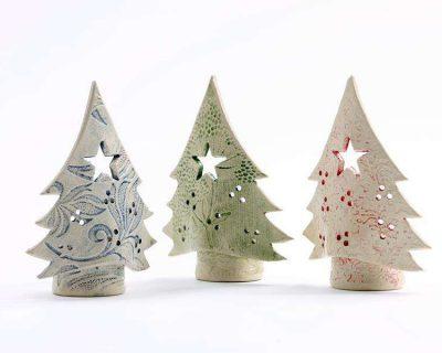Christmas Tree Tea Light Candle Holders