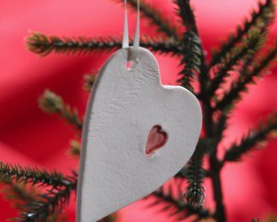 Home Comforts Heart Handmade Hanging Ornament